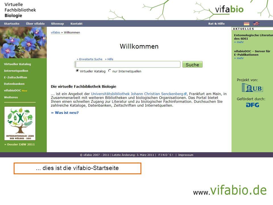 ... dies ist die vifabio-Startseite