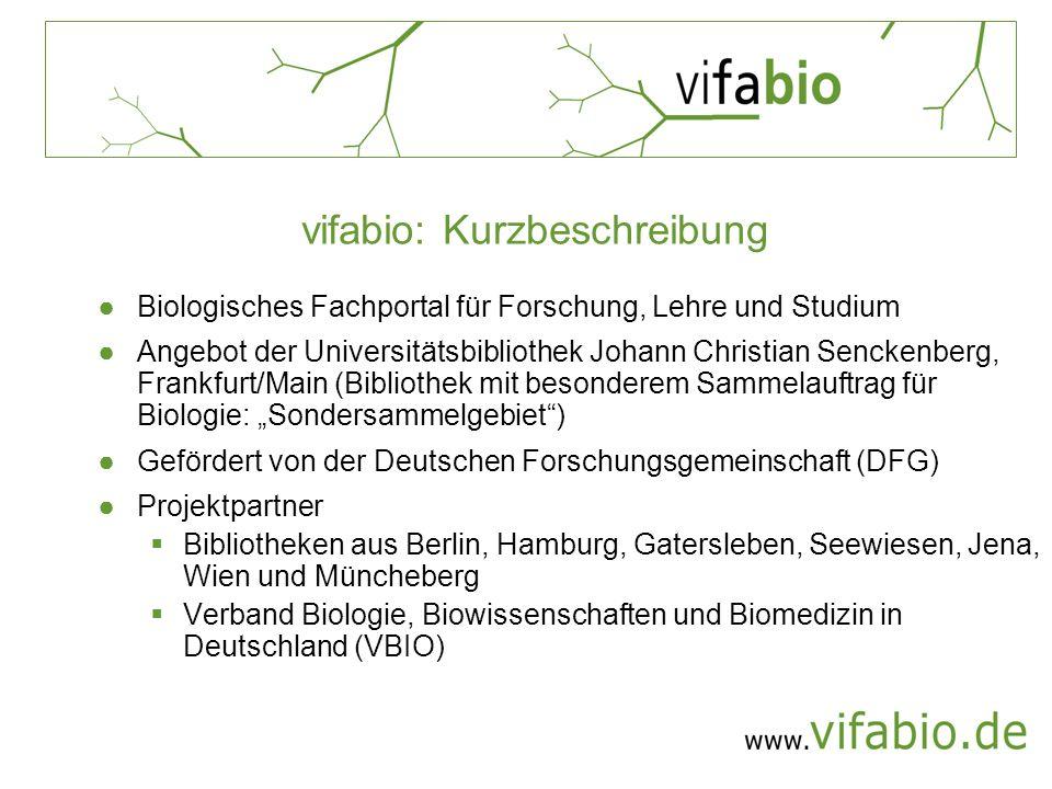 vifabio: Kurzbeschreibung