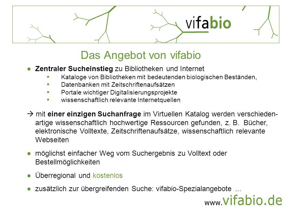 Das Angebot von vifabio
