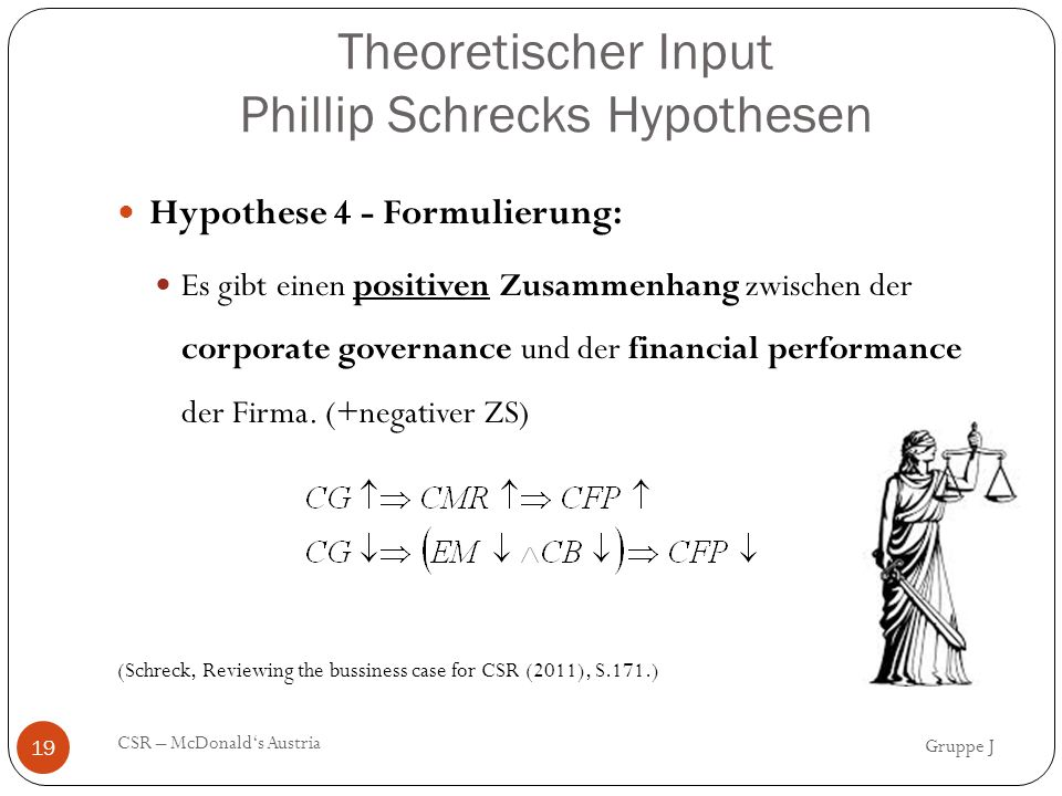 Theoretischer Input Phillip Schrecks Hypothesen