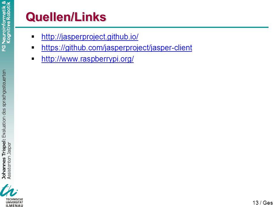 Quellen/Links http://jasperproject.github.io/