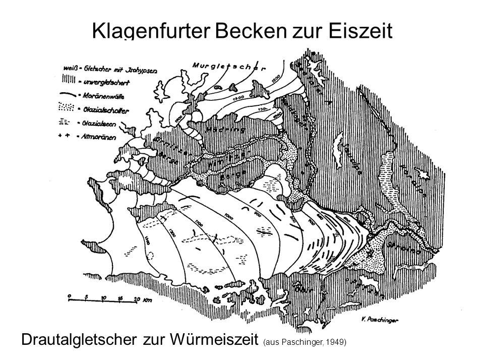 Klagenfurter Becken zur Eiszeit