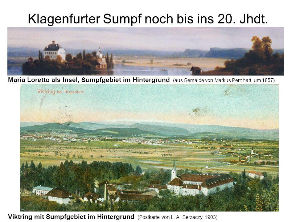 Klagenfurter Sumpf noch bis ins 20. Jhdt.