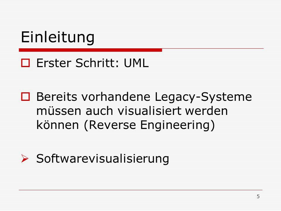 Einleitung Erster Schritt: UML