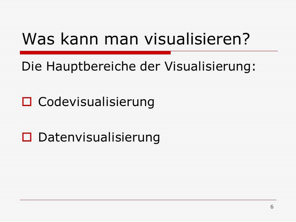 Was kann man visualisieren