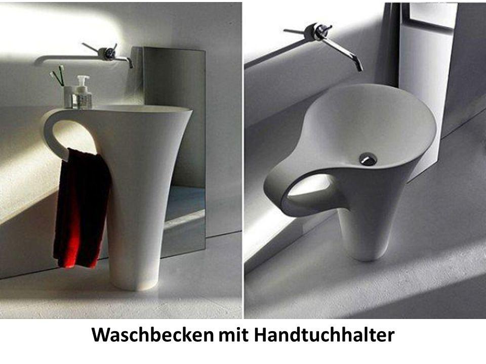 Waschbecken mit Handtuchhalter