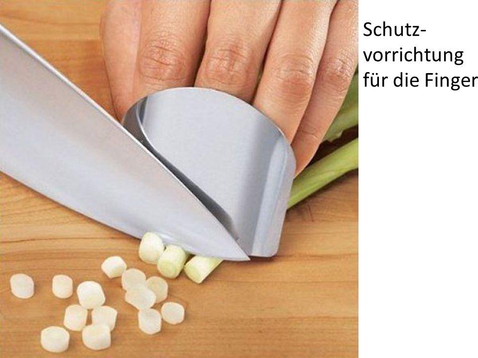 Schutz- vorrichtung für die Finger