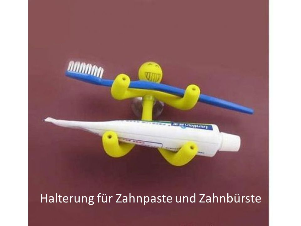 Halterung für Zahnpaste und Zahnbürste