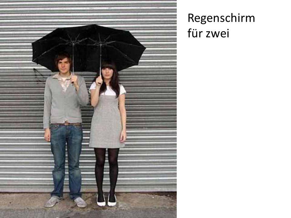 Regenschirm für zwei