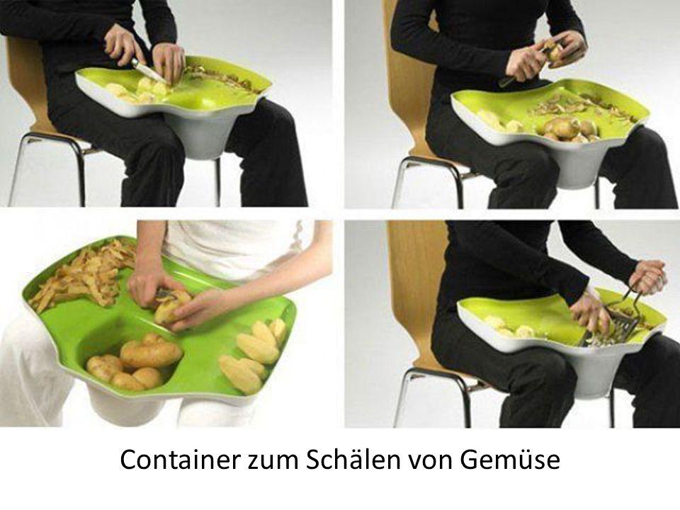 Container zum Schälen von Gemüse