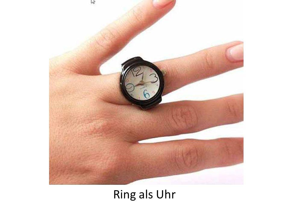 Ring als Uhr