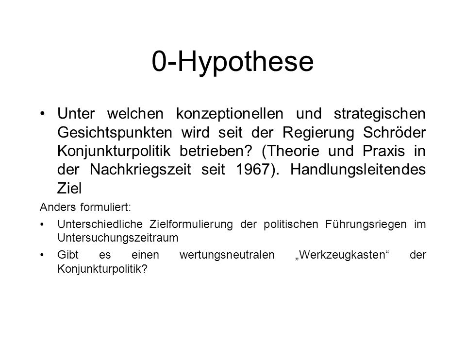 0-Hypothese