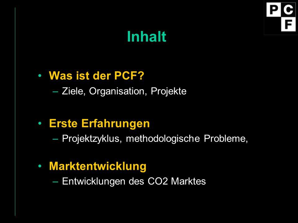Inhalt Was ist der PCF Erste Erfahrungen Marktentwicklung