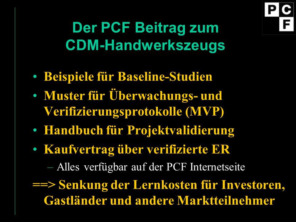 Der PCF Beitrag zum CDM-Handwerkszeugs
