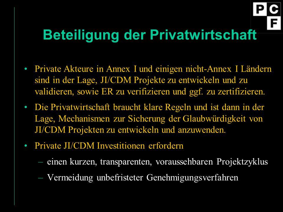 Beteiligung der Privatwirtschaft