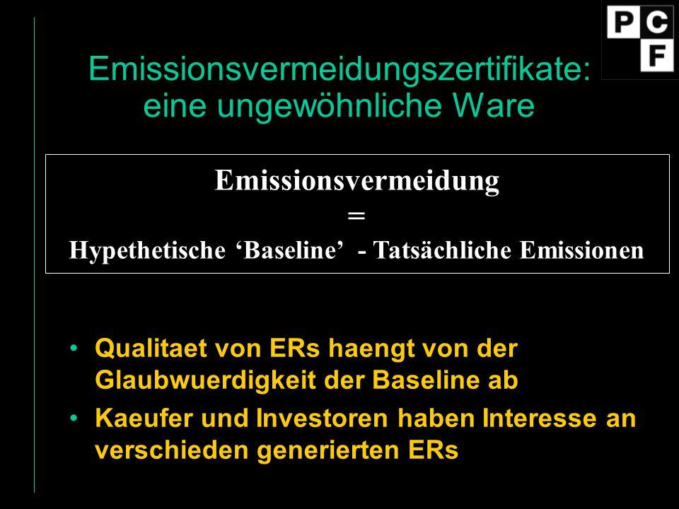 Emissionsvermeidungszertifikate: eine ungewöhnliche Ware
