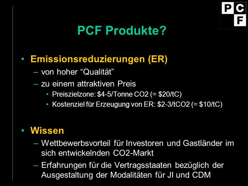 PCF Produkte Emissionsreduzierungen (ER) Wissen von hoher Qualität