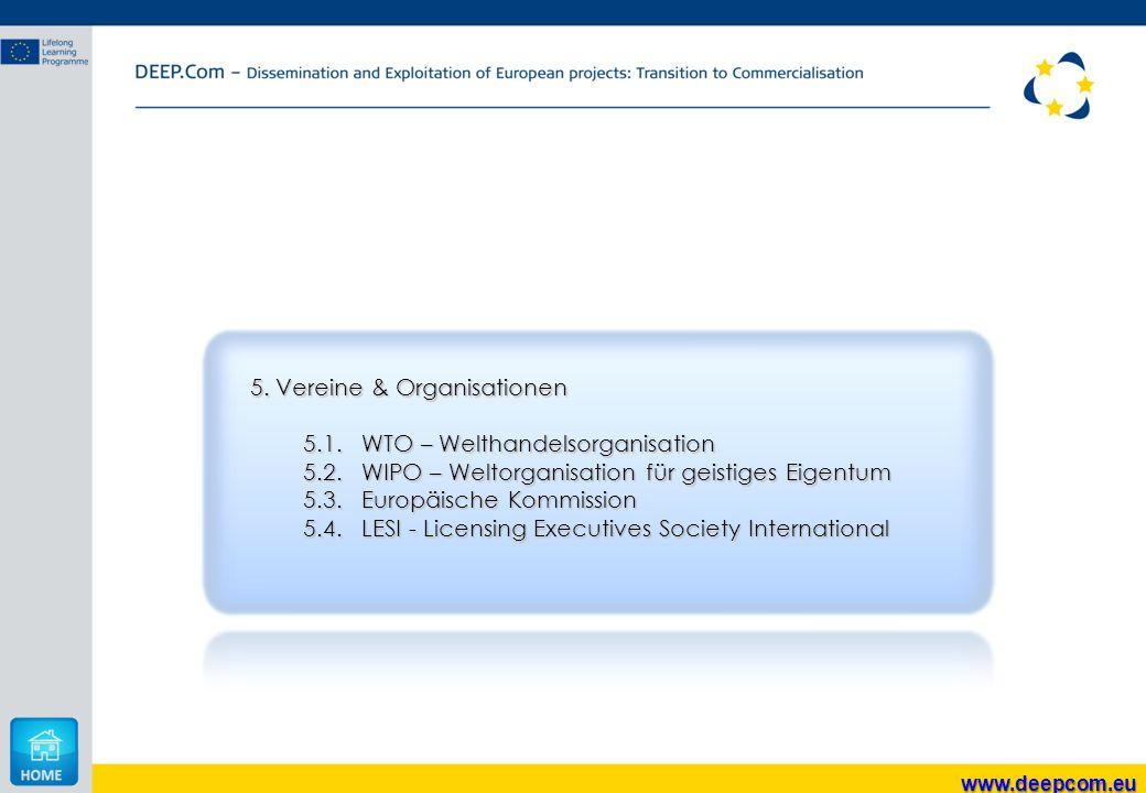 5. Vereine & Organisationen 5.1. WTO – Welthandelsorganisation