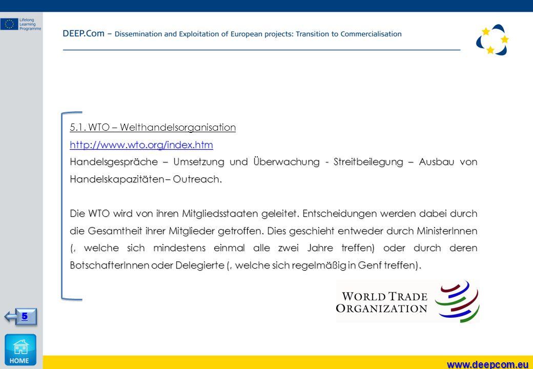 5.1. WTO – Welthandelsorganisation