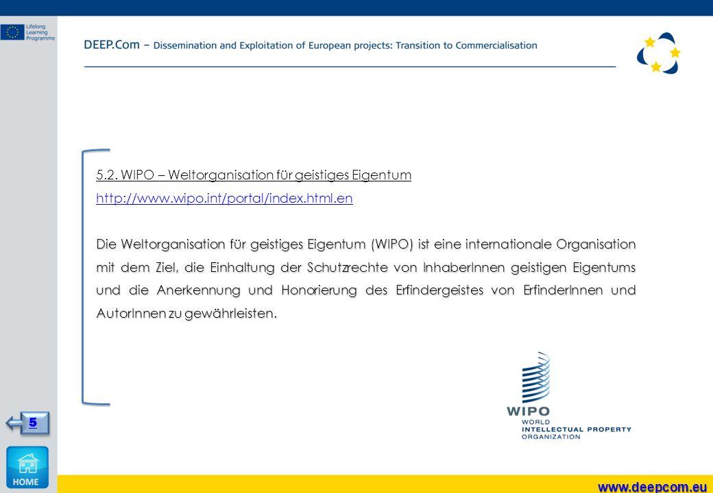 5.2. WIPO – Weltorganisation für geistiges Eigentum