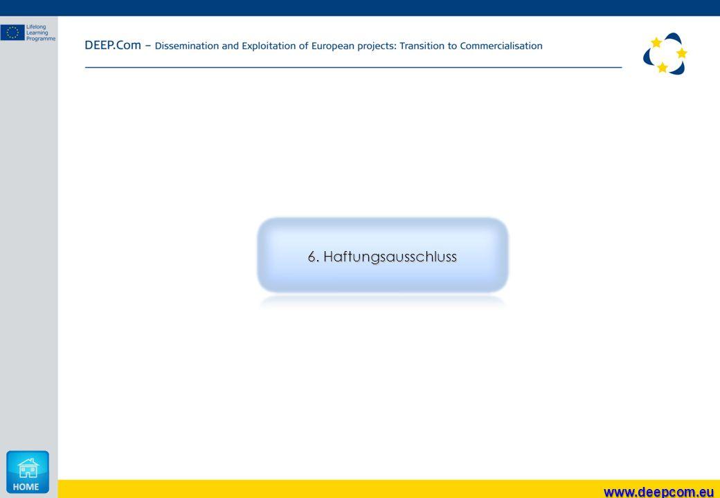 6. Haftungsausschluss www.deepcom.eu
