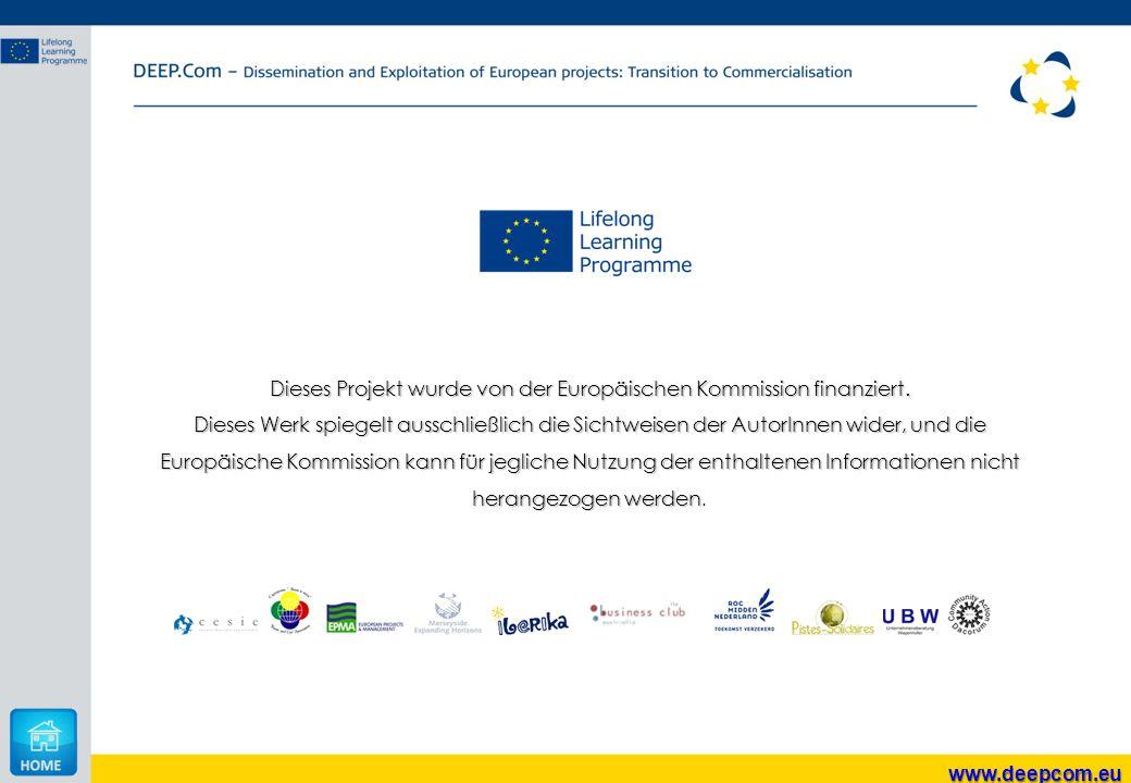 Dieses Projekt wurde von der Europäischen Kommission finanziert.