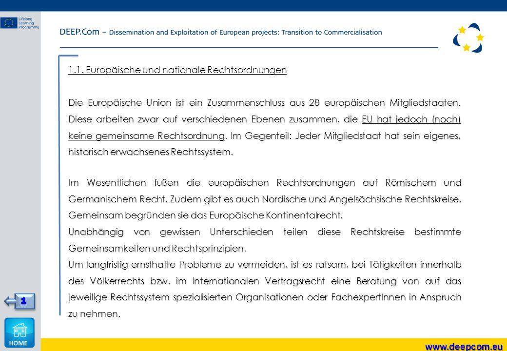 1.1. Europäische und nationale Rechtsordnungen