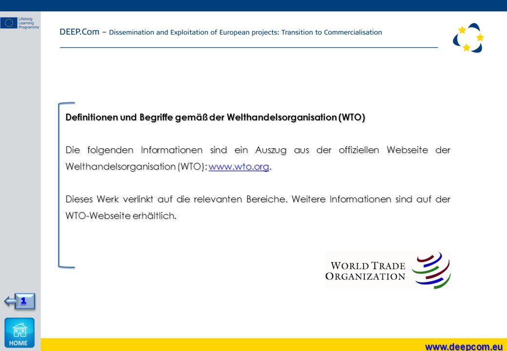 Definitionen und Begriffe gemäß der Welthandelsorganisation (WTO)