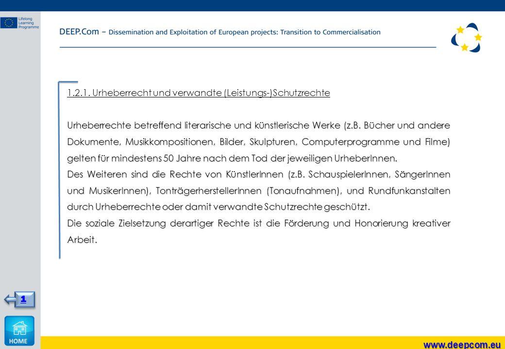 1.2.1. Urheberrecht und verwandte (Leistungs-)Schutzrechte