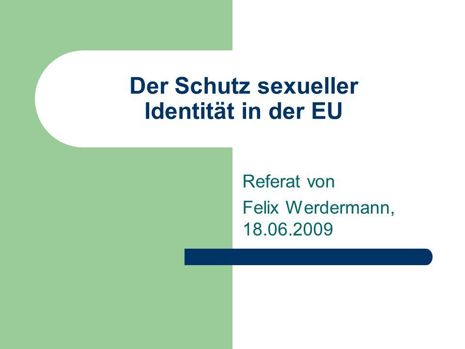 Der Schutz sexueller Identität in der EU