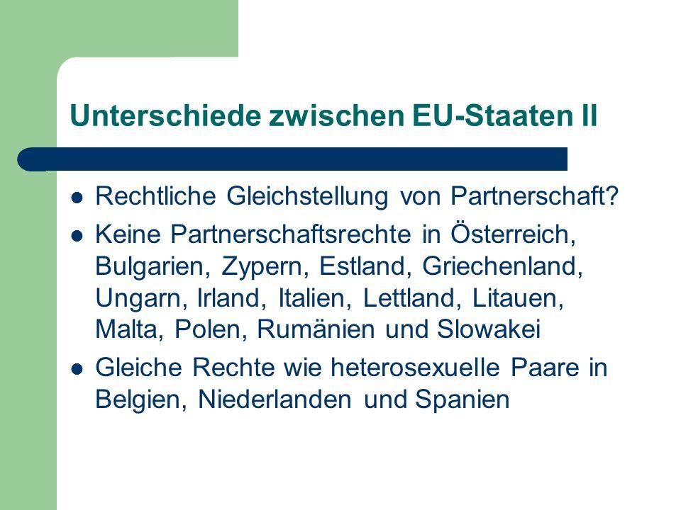 Unterschiede zwischen EU-Staaten II