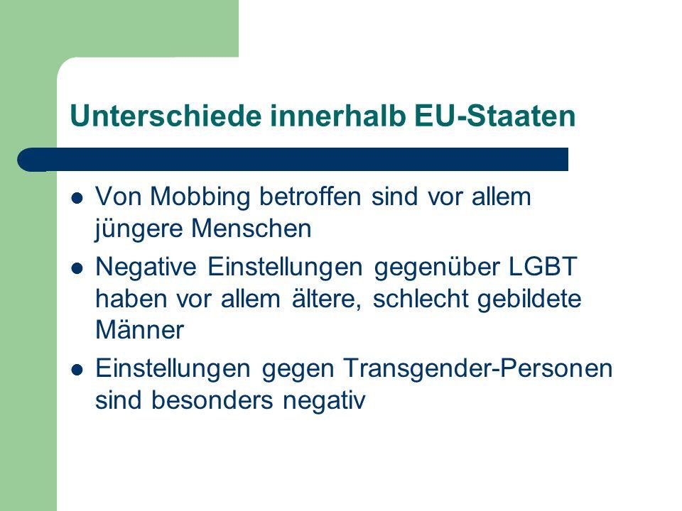 Unterschiede innerhalb EU-Staaten