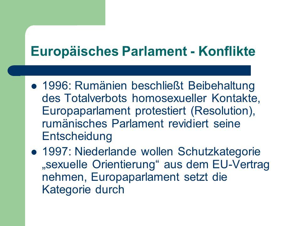 Europäisches Parlament - Konflikte