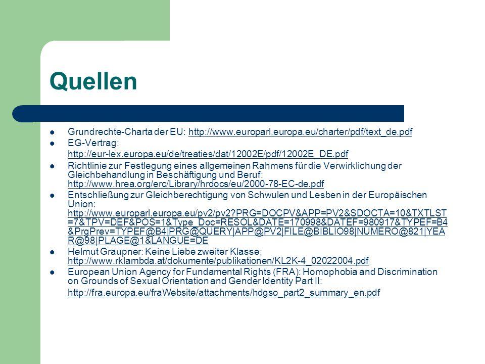 Quellen Grundrechte-Charta der EU: http://www.europarl.europa.eu/charter/pdf/text_de.pdf. EG-Vertrag: