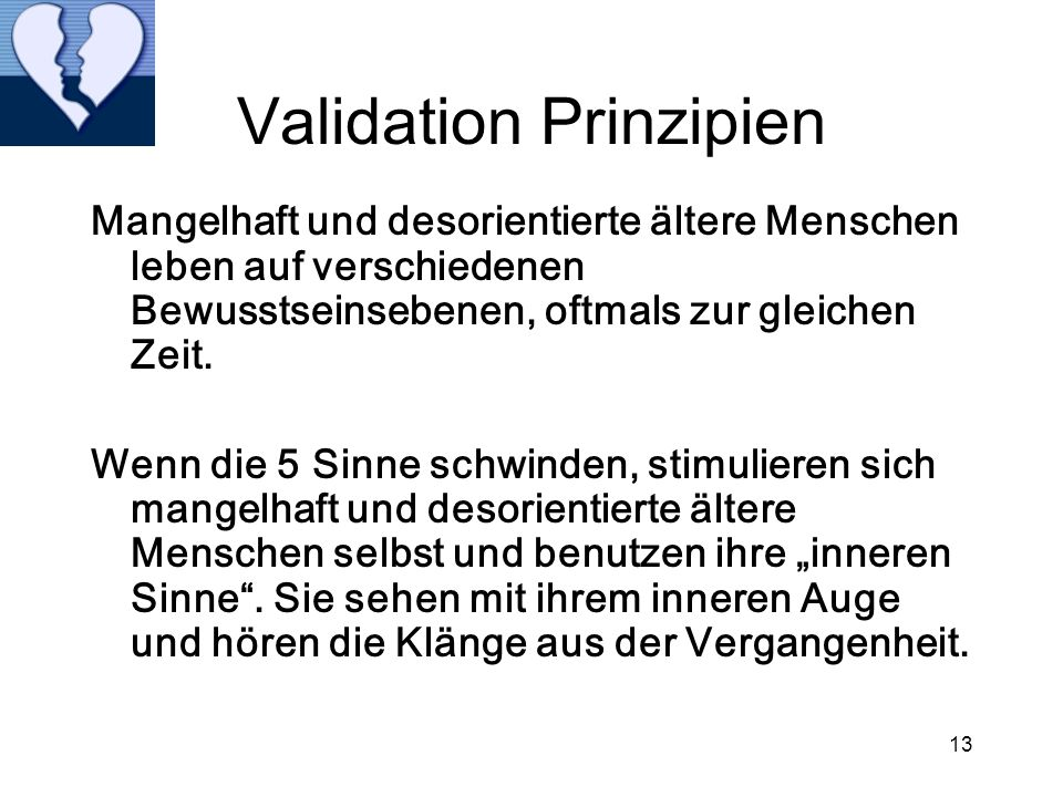 Validation Prinzipien