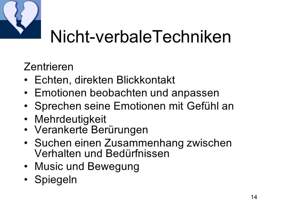 Nicht-verbaleTechniken