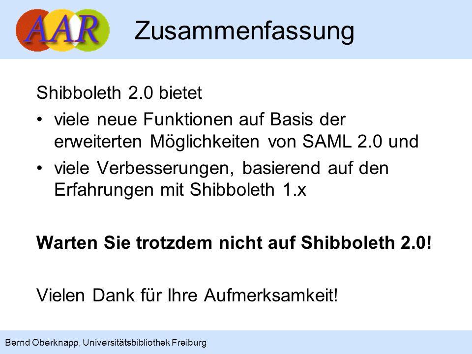 Zusammenfassung Shibboleth 2.0 bietet