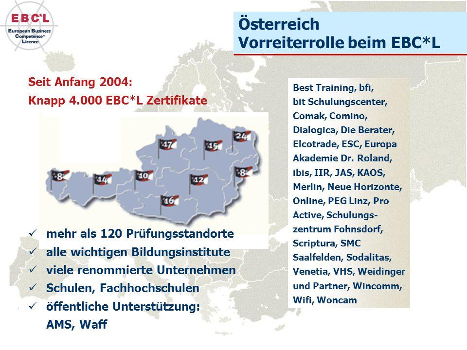 Österreich Vorreiterrolle beim EBC*L