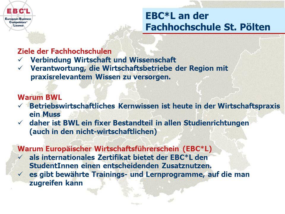 EBC*L an der Fachhochschule St. Pölten