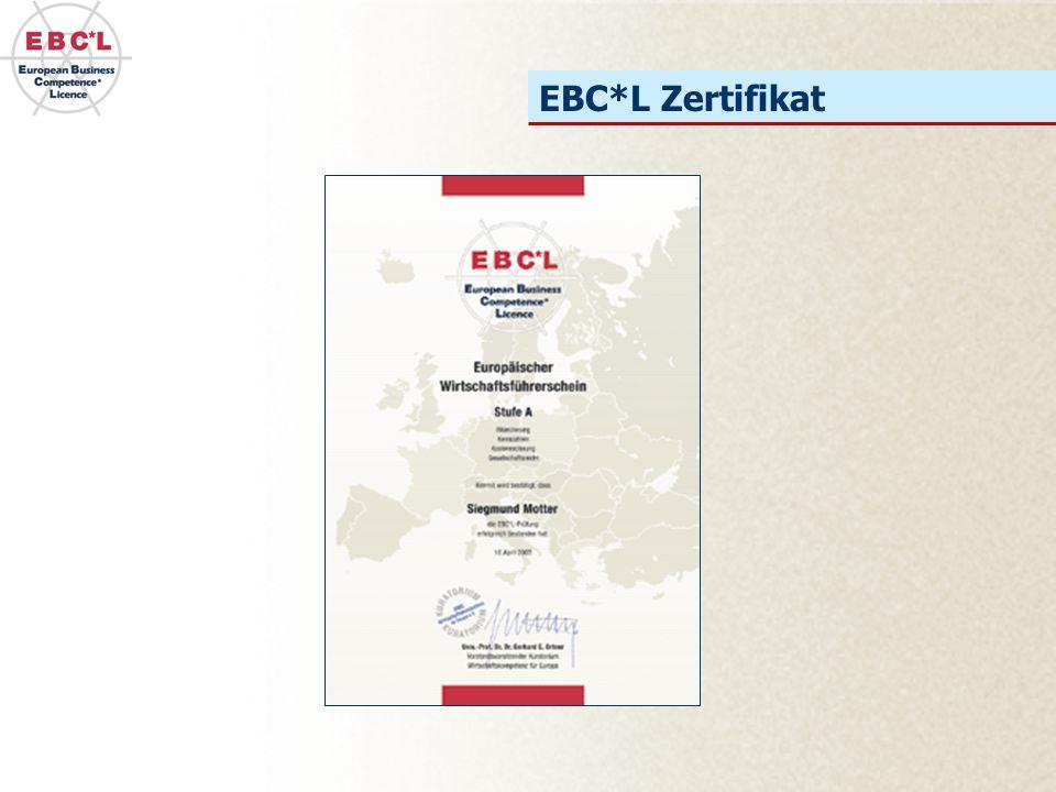 EBC*L Zertifikat