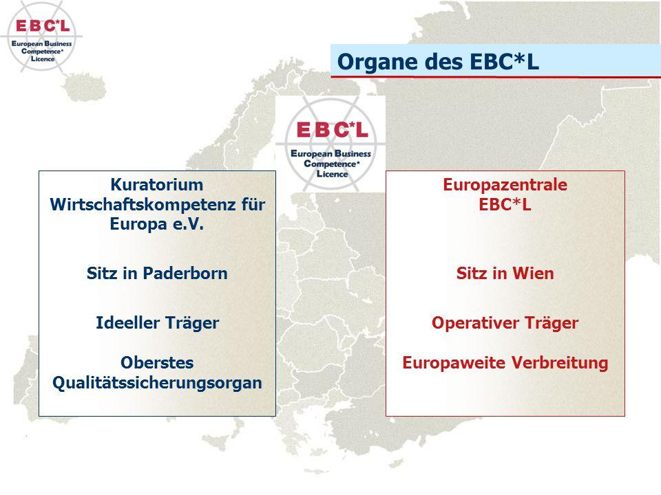 Organe des EBC*L Kuratorium Wirtschaftskompetenz für Europa e.V.