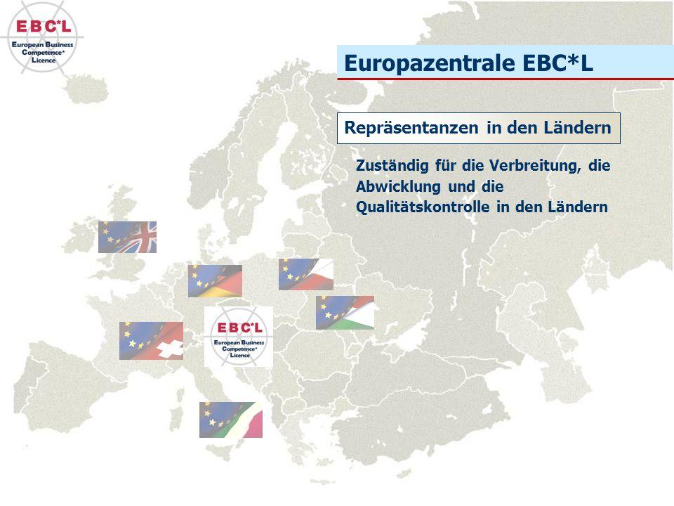 Europazentrale EBC*L Repräsentanzen in den Ländern