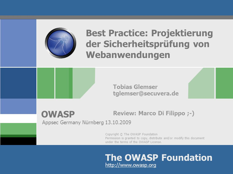 Best Practice: Projektierung der Sicherheitsprüfung von Webanwendungen