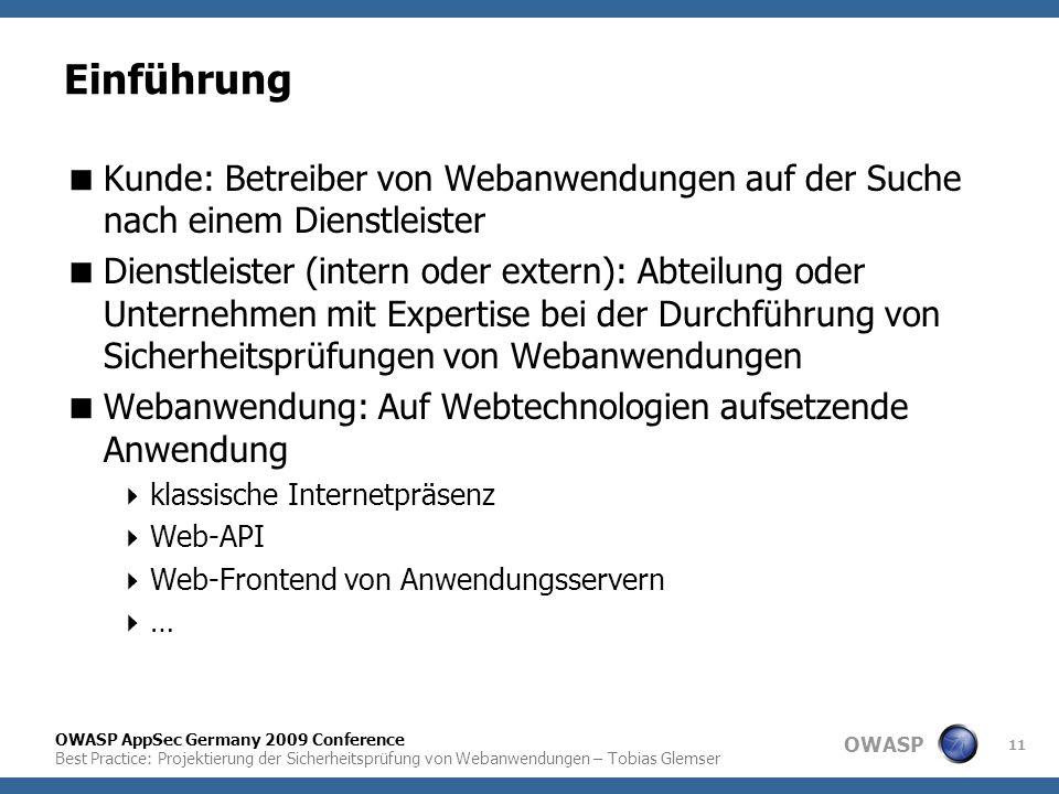 Einführung Kunde: Betreiber von Webanwendungen auf der Suche nach einem Dienstleister.