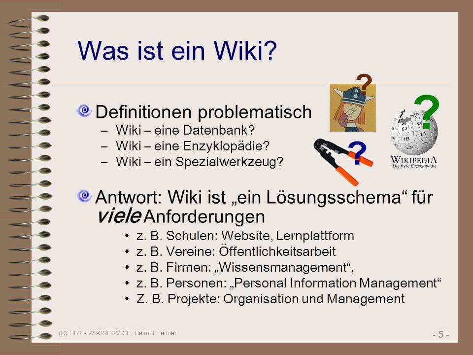 Was ist ein Wiki Definitionen problematisch