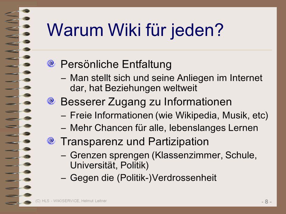 Warum Wiki für jeden Persönliche Entfaltung