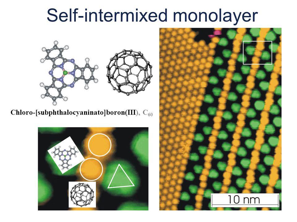 Self-intermixed monolayer