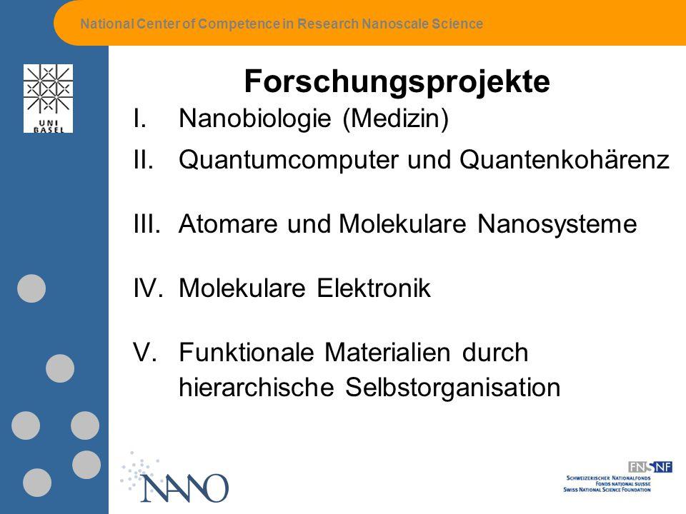 Forschungsprojekte Nanobiologie (Medizin)
