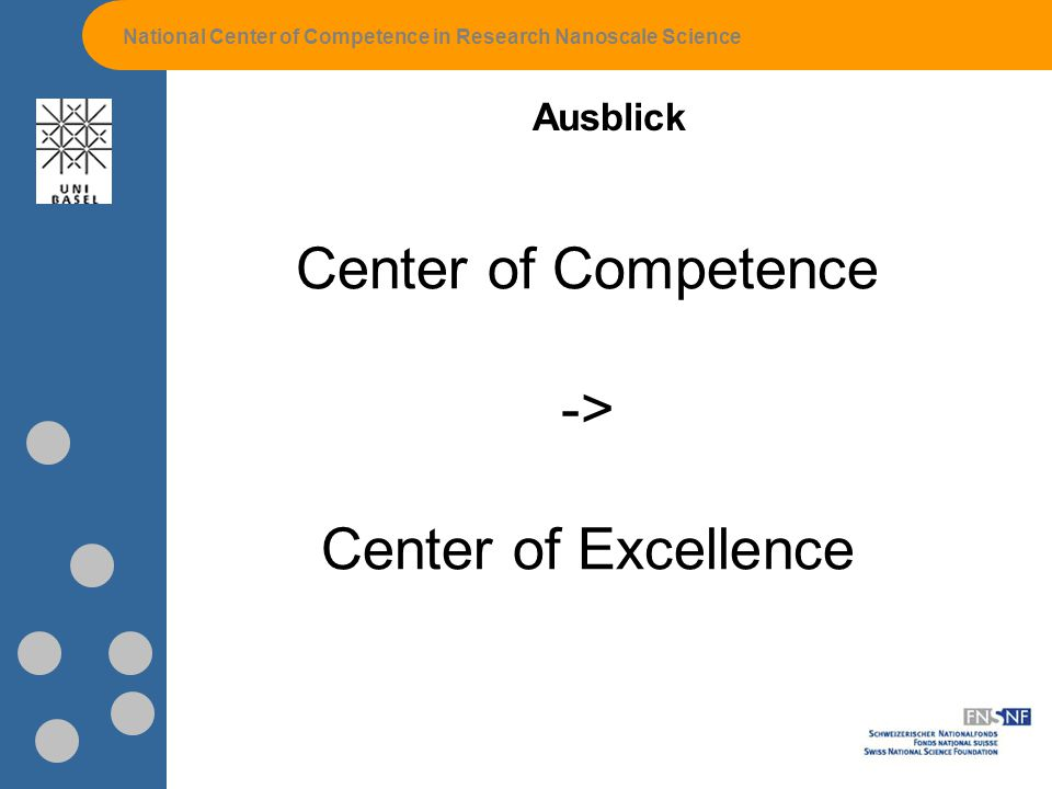 Center of Competence -> Center of Excellence Ausblick