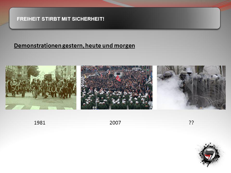 Demonstrationen gestern, heute und morgen